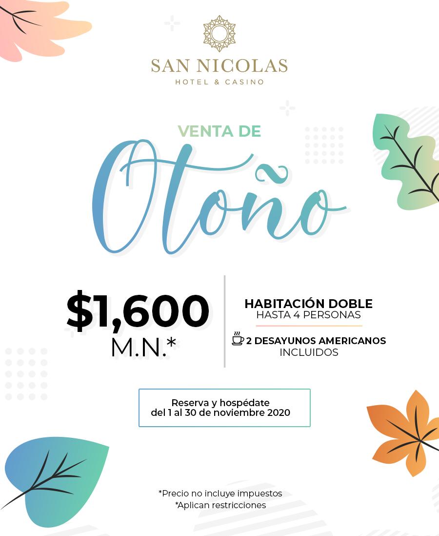 San Nicolas Hotel Venta de Otoño